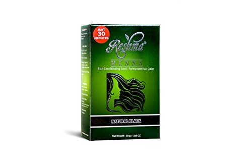 Reshma Beauty 30 Minute Henna Hair Color Pure Natural & Organic Dye infused with Goodness of Herbs (Natural Black)