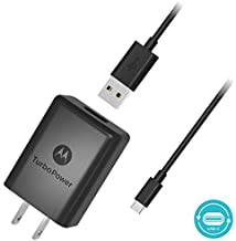 Turbo Power 25W Motorola DROID Turbo 2 QUICK CHARGE 3.0 USB Wall Charging Kit with 1.3M (4.5ft) MicroUSB Cable!
