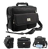 Borsa a tracolla ventiquattrore assistente di volo Borsa a tracolla Business Messenger Bag borsa per notebook Black Nuovo