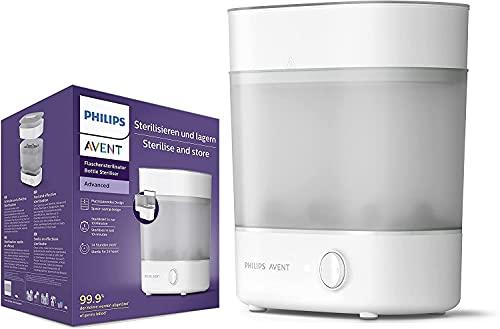 Philips Avent Advanced Esterilizador de botellas, mata el 99,9% de los gérmenes*, ciclo de esterilización de 10 min - SCF291/01