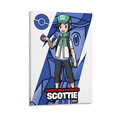 DRAGON VINES Póster de Scottie Is from Pokémon Masters Anime Manga Impresión artística de lienzo para niñas adolescentes 30 x 45 cm