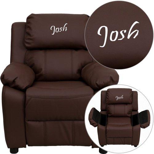 Flash Furniture 28 in. Kids Recliner in Brown Finish