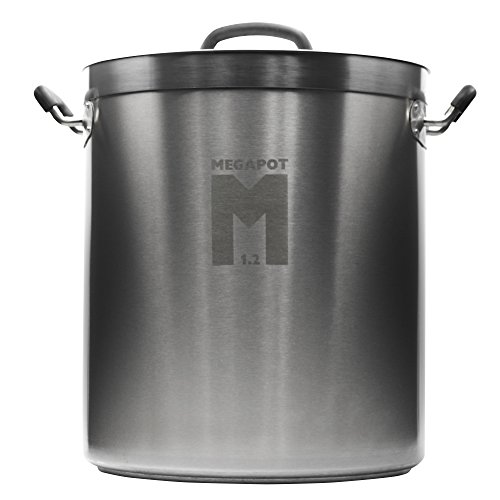 Northern Brewer - Megapot 1.2 Stainless Steel Brew Kettle with Volume Markings (8 Gallon Plain)