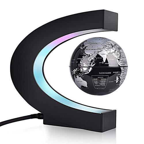 Schwimmender Globus, Globe C Magnetic Levitation Ballförmige schwimmende Globe Weltkarte LED Floating Geschenk Zuhause Büro Schreibtisch Geschäftsdekoration