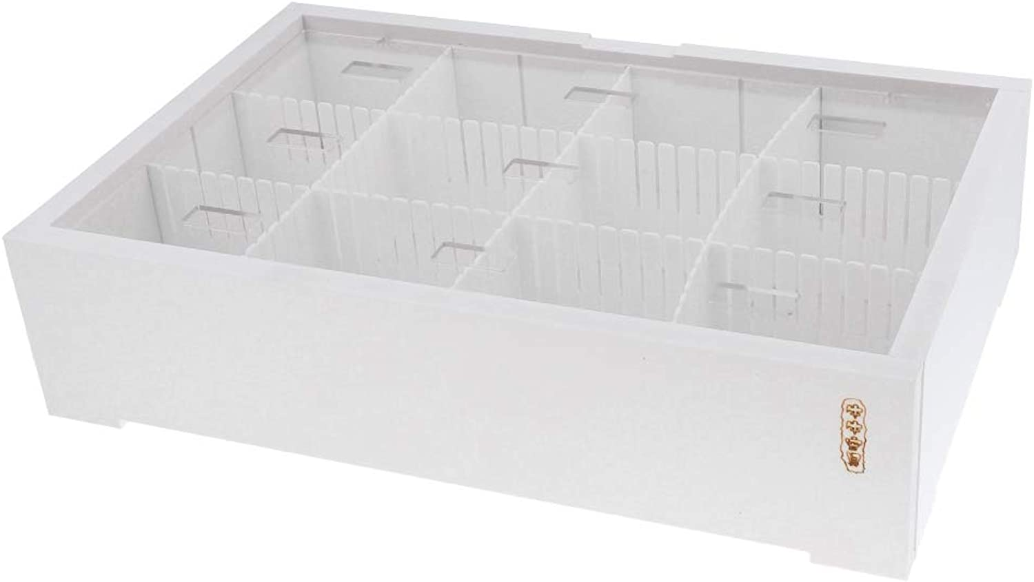 D DOLITY Small Desktop Fish Bowl Aquarium Fish Tank Turtle Isolation Tank White with Five Pieces Boards