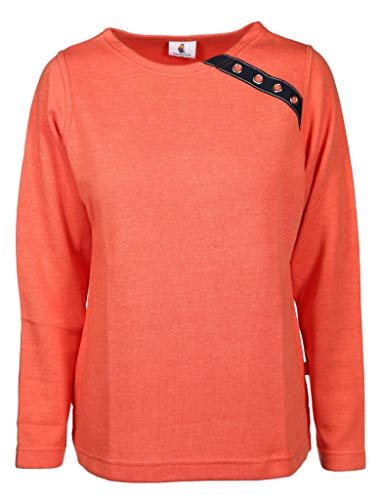wind sportswear Damen Sweatshirt in Kastenform Größe L Orange (orange)