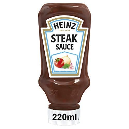 Heinz Steak Sauce, Argentinean Style, Kopfsteherflasche, 8er Pack (8 x 220 ml)
