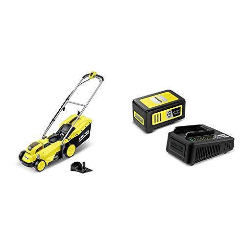 Kärcher LMO 18-33 Battery Akku-Rasenmäher Starter Kit (Akku: 18 V / 5,0 Ah, 18 V Schnellladegerät, max. Flächenleistung: 250 qm, Schnittbreite: 33 cm, 4-fach höhenverstellbar, 35 Liter Fangkorb)