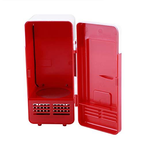 Emoshayoga Refrigerador portátil económico y práctico Mini refrigerador USB Refrigerador para Coche de Oficina en casa(Red)