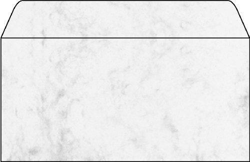 Sigel DU160 Umschlag, Marmor grau, gummiert, Spezialpapier (Ink/Laser/Copy), Innendruck, 90 g, DIN lang (110x220 mm), 25 ST