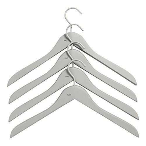 Soft Coat Slim Kleiderbügel Set 4-teilig, grau BxHxT 44x27x1cm