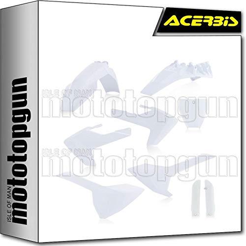 acerbis 0023056 kit plastico completo blanco 2 compatible con husqvarna tc 85 2018 18 2019 19