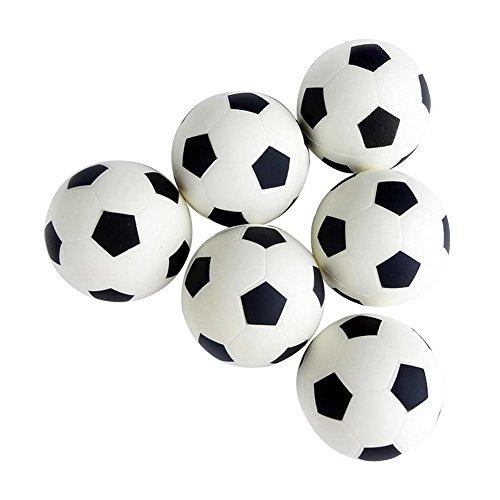 Gespout 6 Stück Elastischer Ball Kinder Mini-Fußball Softball Kindergarten kleine Bälle Mini Football Kinder Spielzeug Ball