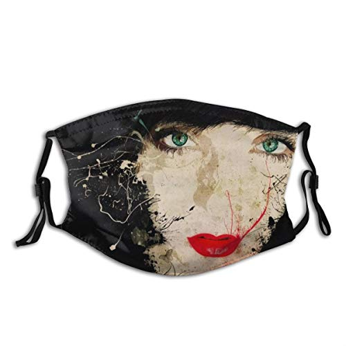 HUAYEXI Gesichtsbedeckung,Porträt Roter Lippenstift Blut Mund Nase Person Kopf Art Art Mädchen...