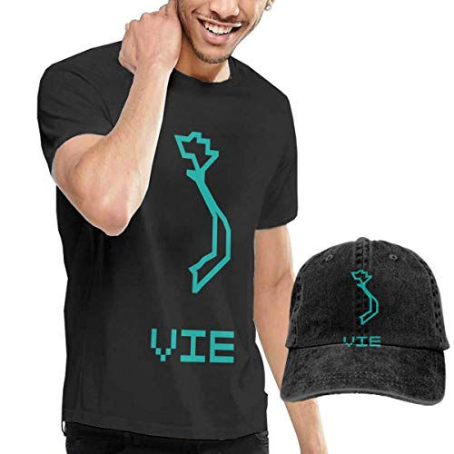 Tengyuntong sunminey Homme T- T-Shirt Polos et Chemises Men's Viet NAM Country Map T-Shirts Blouse with Cowboy Cap