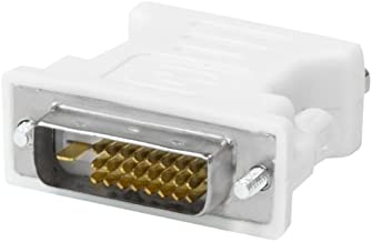 Kingwin DVI-D 24+1 Male to VGA HD 15 Female Adapter for HDTV, Gaming, Projector, DVD, Laptop, PC, Computers.  Convert VGA/SVGA Monitors to DVI, and Supports Hot Plugging of DVI Display Devices