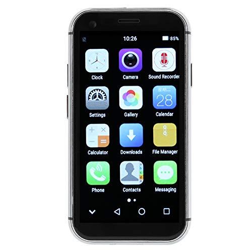 Comdy Mini Smartphone Ohne Vertrag Günstig - Dual SIM Handy ohne Vertrag 4G Quad-core Android Mobiltelefon mit 5MP Dual Kamera, Gesichtserkennung & Fingerabdrucksperre - Weiß(3+32G)