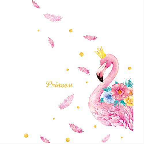 Flamingo PVC behang zelfklevende slaapkamer meisje kamer muur Sticker nachtkastje muur decoratie Stickers 110 * 143Cm