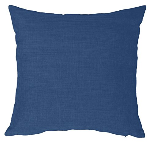 Kissenhülle Struktur Leinen-Optik Kissenbezug Deko Kissen ca. 40x40 50x50 oder 40x60 cm #388 (blau, 50x50 cm)