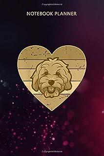 Notebook Planner Vintage Heart Golden Doodle Men Women Retro Doodle Dog: Mom, Over 100 Pages, Management, To Do, Life, Gym...