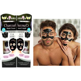CHARCOAL Blackheads Remover Face Mask Cream (130 +130 g)-Combo Pack of 2