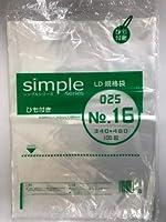 福助工業株式会社 LD規格袋シンプル025No.16紐付 (1ケース:1500枚)