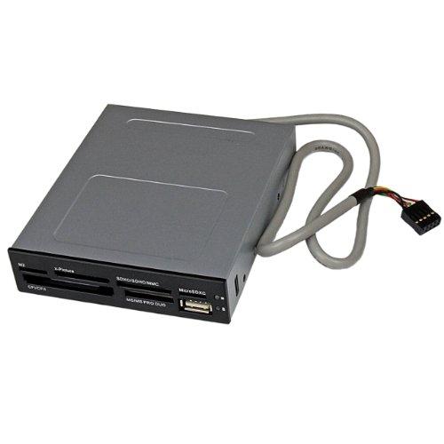 StarTech.com Lecteur de cartes mémoire interne de 3,5 pouces avec port USB 2.0 - Lecteur multicartes 22-en-1 pour PC - Noir (35FCREADBK3)