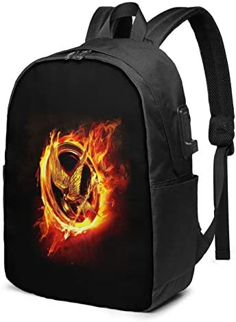 The Hunger Games Extra Large 17 Inch Business Travel Backpack With Usb Charging Port Earphone product image
