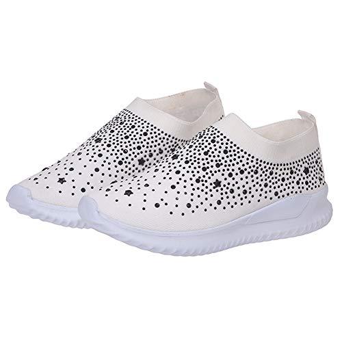 Bolana Damenschuhe, Sneakers, Schuhe mit Strass, modische Schlupfschuhe für Krankenschwestern, leichte Wanderschuhe, Wie abgebildet, weiß, 41