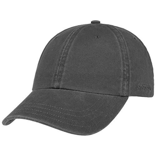 Stetson Rector Basecap - Cap für Damen/Herren - Sonnenschutz-Cap aus Baumwolle (UV-Schutz 40+) - Baumwollcap größenverstellbar (55-60 cm) - Baseballcap Sommer/Winter anthrazit One Size