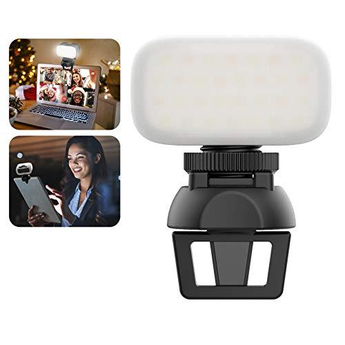 Videokonferenz Beleuchtung Clip on, ULANZI Webcam Beleuchtung mit Clip für iPad und Laptop, Schreibtischlampe Videolicht für Zoom Calls, Fernarbeit, Videoanruf,Unterricht, Livestreaming