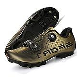 WYUKN Zapatillas de Ciclismo para Mujeres y Hombres,Zapatillas de Bicicleta Atléticas Profesionales Zapatillas de Ciclismo MTB,Calzado de Bicicleta,B-mountainbottom-42EU