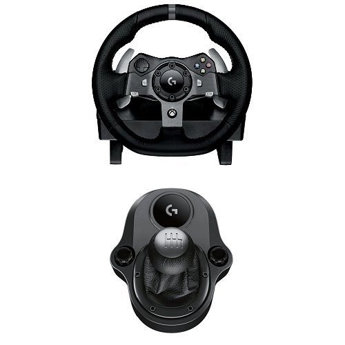 Logitech G920 Driving Force Volante da Corsa, per Xbox One/PC e Logitech Driving Force Manopola del Cambio