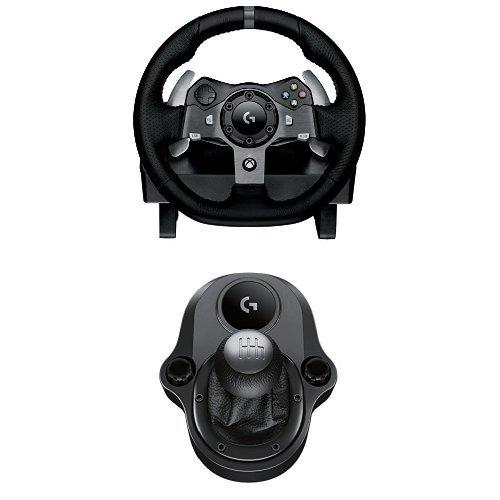 Logitech G920 Driving Force Volante da Corsa, per Xbox One/PC e Logitech Driving Force Manopola del Cambio