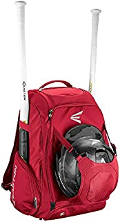 Easton Walk-Off IV Bat & Equipment Backpack Bag | Baseball Softball | 2020 | 2 Bat Sleeves | Vented Shoe Pocket | External Helmet Holder | Zippered Side Pockets | Valuables Pocket | Fence Hook