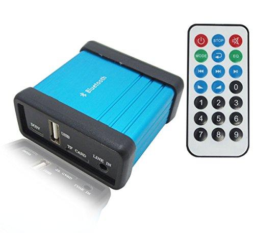 DollaTek portátil de Audio inalámbrico Bluetooth Caja del Receptor con Control Remoto, Apoyo TF USB Play, Bluetooth estéreo de música Módulo Transmisor para HiFi Amplificador de Cine en casa