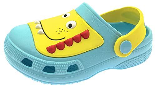 ChayChax Zuecos Unisex Niños Lindo Sandalias de Playa y Piscina Infantil Niña Niño Antideslizante Zapatillas Verano Zapatos de Jardín Agua, Azul, 30/31 EU