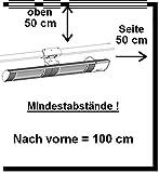 Aktobis Wand-Heizstrahler, Balkonheizer, Zeltheizer WDH-300WS (Schwarzmetallic + bis 3.000 Watt + Geringe Blendwirkung) - 4