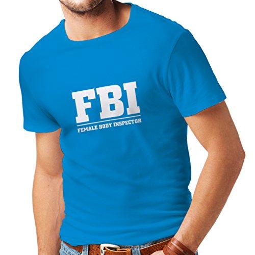 lepni.me Camisetas Hombre Inspector del Cuerpo Femenino - FBI - Citas de la Broma, Lemas Divertidos