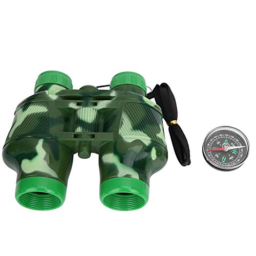 VGEBY1 verrekijker voor kinderen, speelgoed verrekijker, set met lanyard-kompas, kindertelescopisch speelgoed cadeau