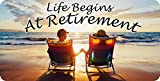 Life Begins at Retirement Photo License Plate