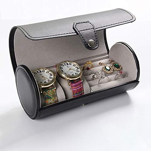 Herren Schmuckschatulle PU Leder Zylinder Uhrenbox High-End Manschettenknopf Etui und Ring Aufbewahrungsbox