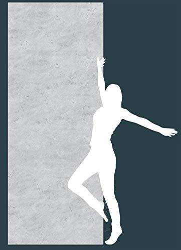 Fliesenlos und Fugenlos Dekorplatte Fein Beton Wandverkleidung Aschgrau Rückwand Fliesenersatz Fliese 2550x1000x3 mm Duschrückwand Alu Feinstein Dusche Wandbild Wandtattoo Badezimmer Naturstein