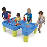 """Simplay3 Big River and Roads Outdoor Water Activity Play Table with Water and Track Toys for Toddlers and Kids, Accessories Included - 44.5"""" L x 29"""" W x 14"""" H"""