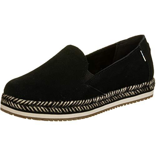 TOMS Womens Palma Casual Flats Shoes, Black, 8.5