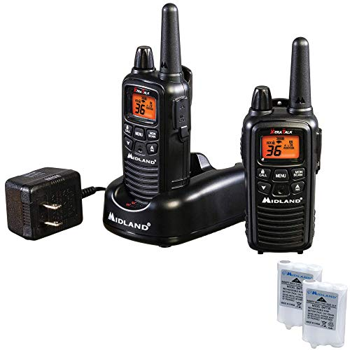Midland - LXT600VP3, 36 Channel FRS Two-Way Radio - Up to 30 Mile Range Walkie Talkie, 121 Privacy Codes, NOAA Weather Scan + Alert (Pair Pack) (Black). Buy it now for 49.99