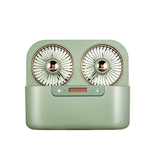 Ventilador de Doble Hoja de Doble Pulverización,ventilador Usb, Ventilador de Circulación de Aire Fuerte,adecuado Para Ventilador Personal en el Dormitorio,la Oficina y la Sala Familiar ( Color : A )