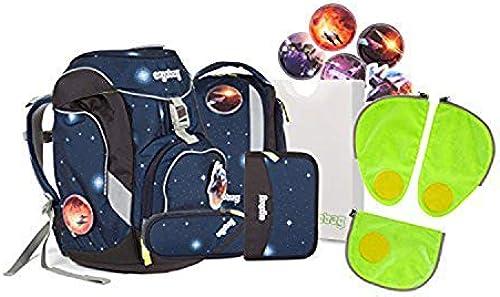 Ergobag pack - Schulrucksack Set 6 tlg. KoB ikus inkl. Sicherheitssets in Grün