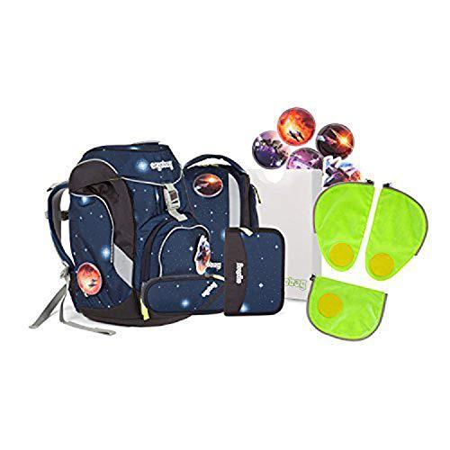 Ergobag pack - Schulrucksack Set 6 tlg. KoBärnikus inkl. Sicherheitssets in GRÜN