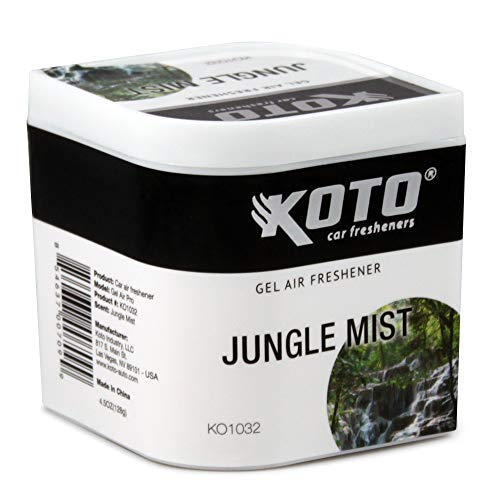 Why Choose Koto Gel Air Pro Car Air Freshener Jungle Mist Scent, Lasts Up To 60 Days, Solid Gel Diff...